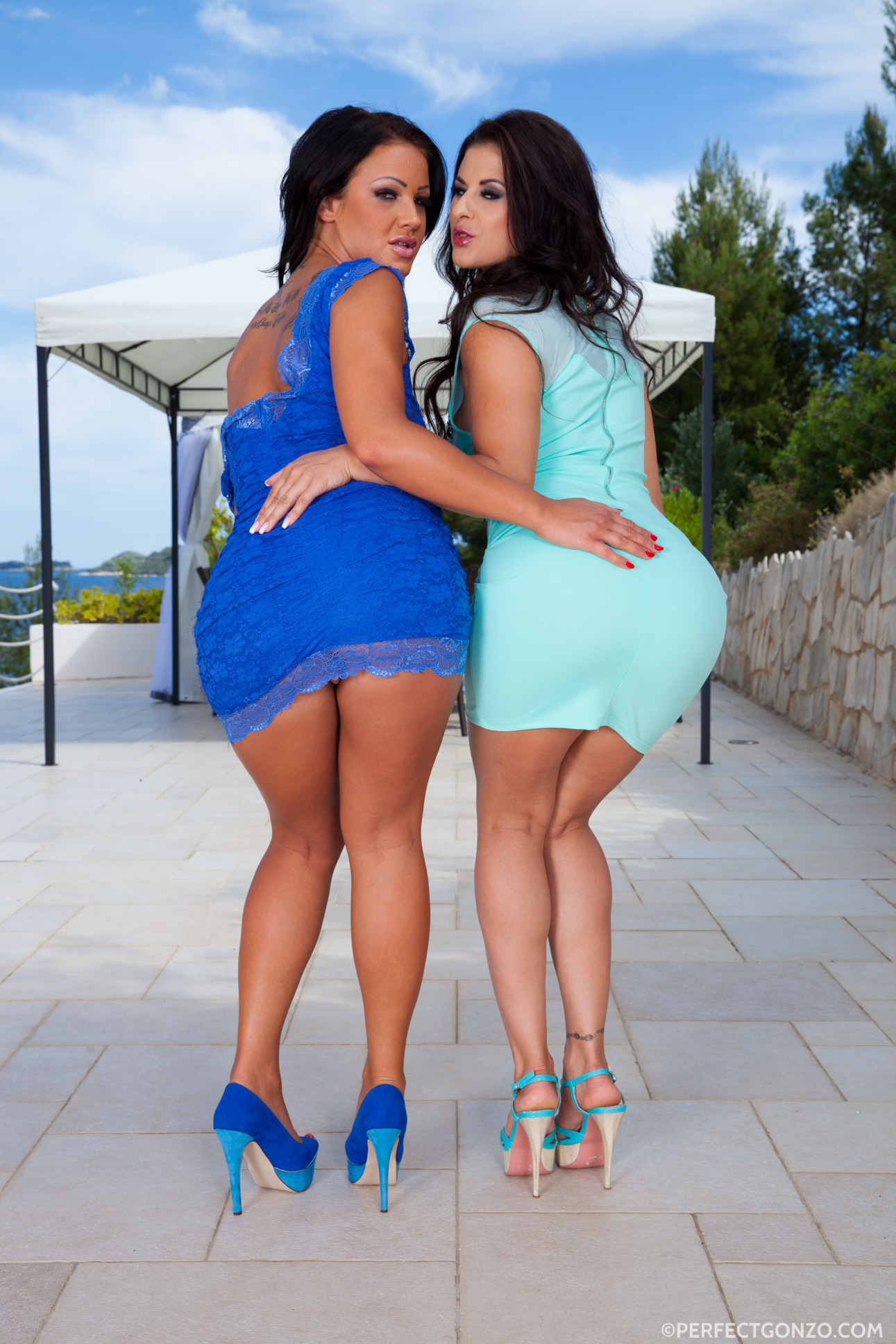 Perfectgonzo Billie Star  and  Nia Black pornstar